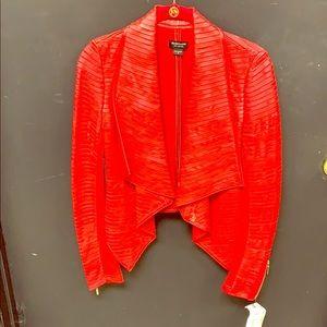 Marciano drape leather jacket
